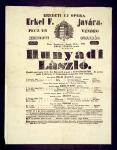 A bemutató előadás színlapja. Országos Széchényi Könyvtár, Színháztörténeti Tár