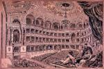 Az Operaház nézőtere. Ismeretlen művész fametszete Dörre Tivadar rajza alapján. Országos Széchényi Könyvtár, Színháztörténeti Tár